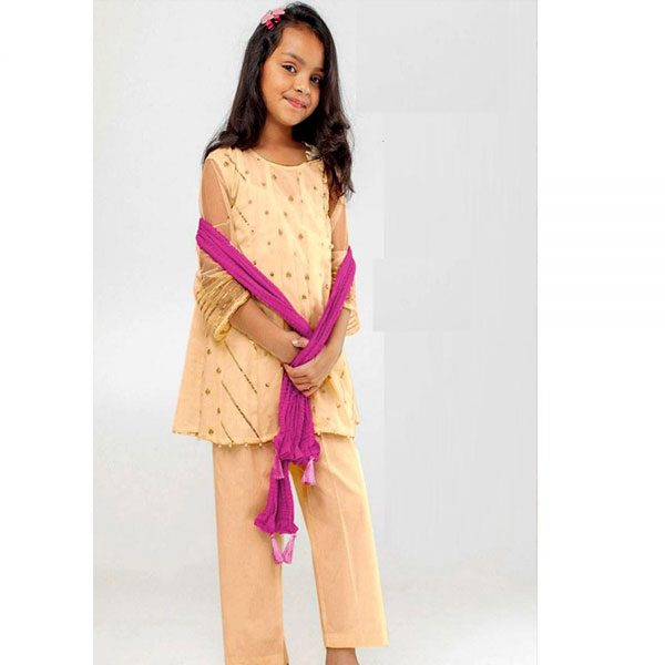Khaadi Lawn Kids Embroidered Dress