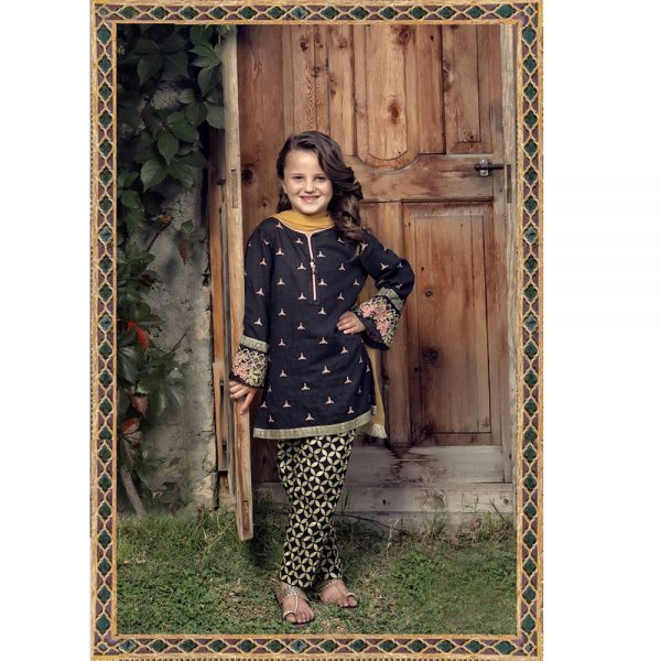 Maria.B Lawn Kids Embroidered Dress