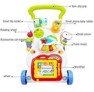 Baby Music Walker Trolley With Drawing WordPad