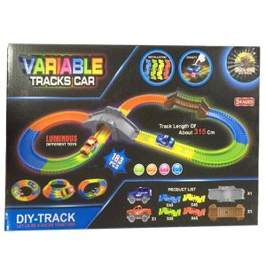 Rainbow Variable Tracks Car Set 183 Pcs