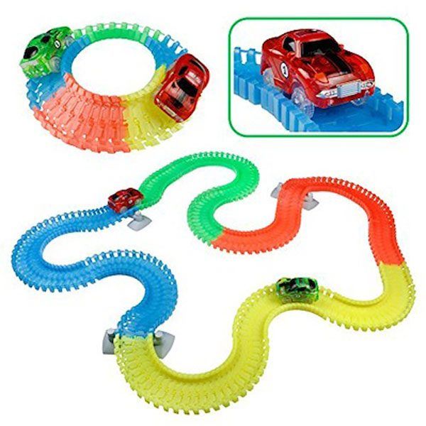 Rainbow Variable Tracks Car Set 340 Pcs