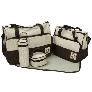 5 Pcs Multi-Function Baby Diaper & Mother Bag