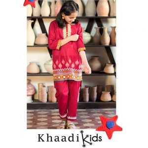 Khaadi Summer Lawn Kids Embroidered Dress