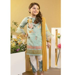 Maria.B Summer Lawn Girl Embroidered Dress