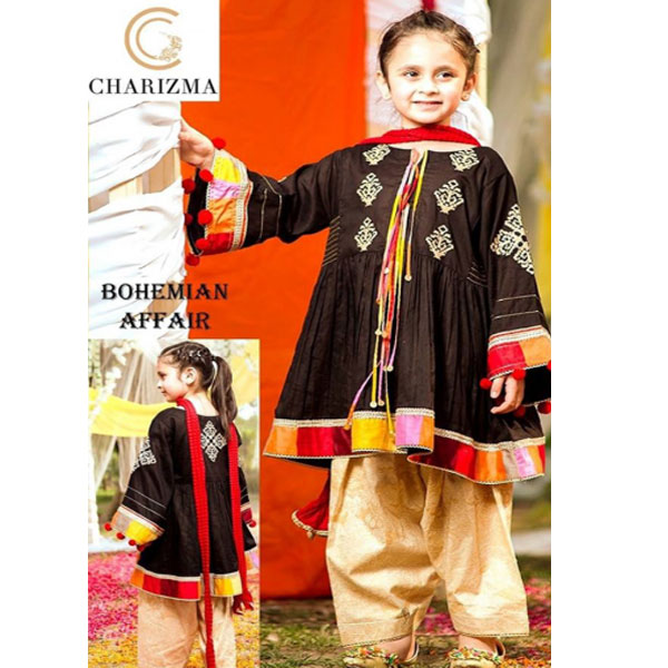 Maria.B Summer Lawn Girl Embroidered Fancy Dress