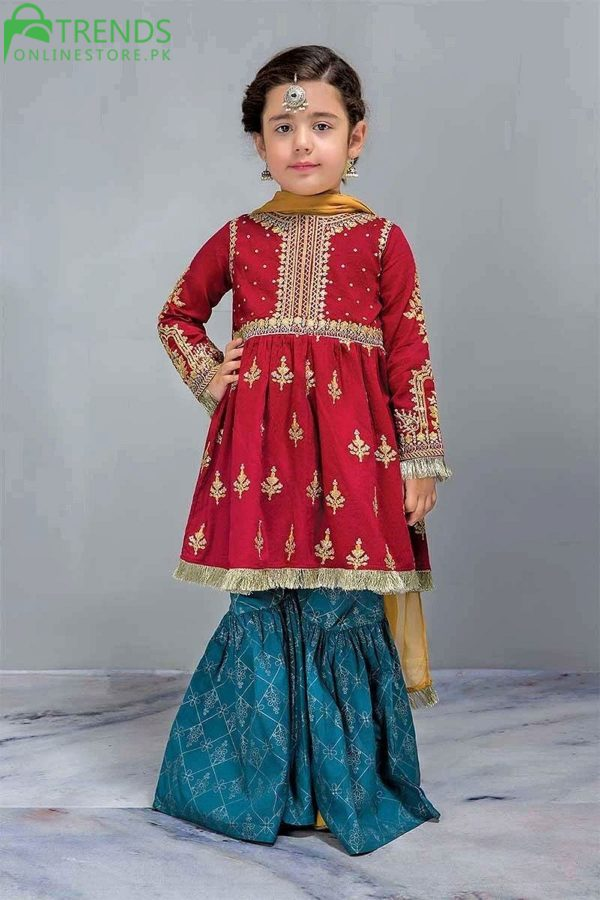 Maria B Cotton Fancy Girl Embroidered Outfit