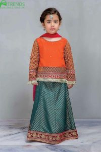 Maria B Chiffon Fancy Girl Embroidered Outfit