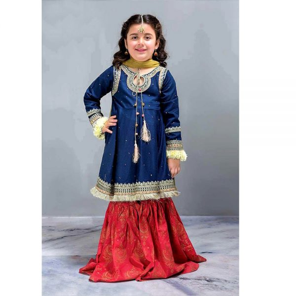 Maria.B Baby Girl Lawn Embroidered Fancy Outfit