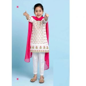 Maria.B Baby Girl Summer Lawn 2 Pcs Embroidered Fancy Outfit